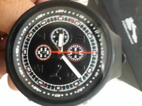 Relógio Puma Pu910691002 Slick Preto Cronógrafo Funcional Perfeito Estado De Novo