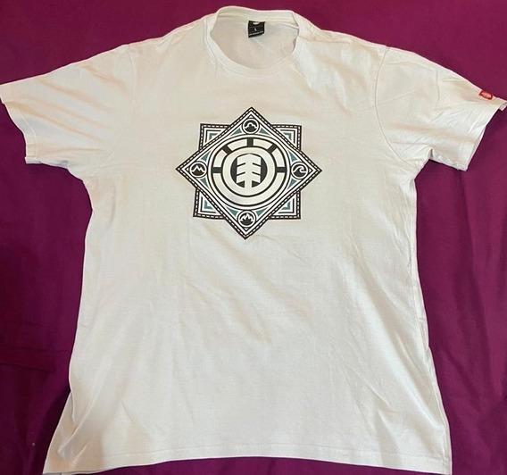 Remera Element - Blanca - Talle L - Manga Corta - Redondo