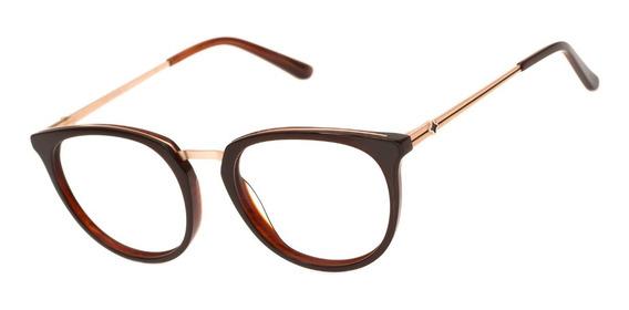 Armação Oculos Ogrife Og 1699-c Acetato Feminino Redondo