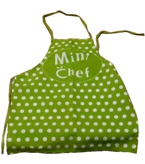 Mini Chef Delantal Y Gorro Hermosos !!! Nenas Y Nenes Stock