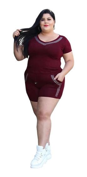 Roupas Femininas Conjunto Shorts E Blusa Moda Verão 2019