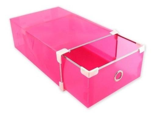 10 Cajas Organizadoras Rosado Para Zapatos Muebles / R3005
