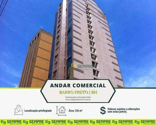 Imagem 1 de 18 de Andar-sala Para Alugar, 126 M² - Barro Preto - Belo Horizonte/mg - Ac0038