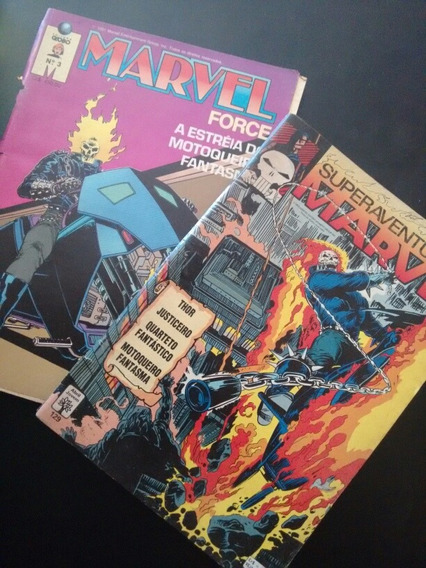 Motoqueiro Fantasma Superaventuras Marvel 129 + Marvforce 3