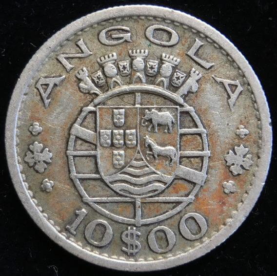 Angola Portuguesa, 10 Escudos, 1952. Plata. Vf