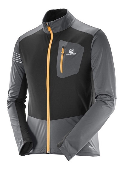 Campera Salomon Rs Softshell Jkt M Forged Iron Hombre