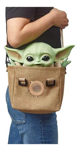 Baby Yoda 28cm, Con Sonidos Y Bolso Star Wars En Stock