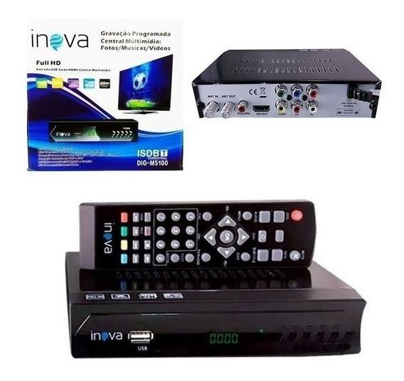 Conversor Tv Digital Funçao Gravador Full Hd Usb Rca Hdmi