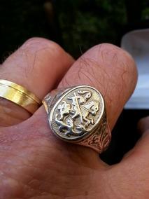 Anel São Jorge Prata Maciça 925