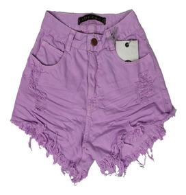Short De Cintura Alta Lady Rock Jeans Cós Alto Black Friday