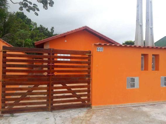 Casa Na Praia De Itanhaém A 900 Metros Do Mar R$ 124.900