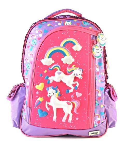 Mochila Kooshi Pony Lila Espalda 17