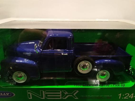 Pick Up Chevrolet 1953 Azul 1:24 Welly Milouhobbies A2498