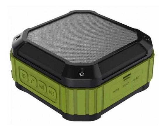 Bocina Bluetooth Celular Contra Agua Gris /verde Aukey
