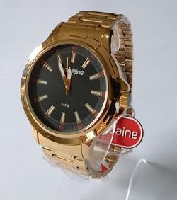 Relógio Masculino Dourado Mondaine Original Ref83400gpmvde2.