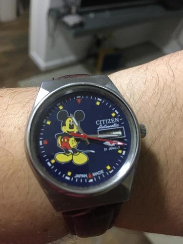 Relógio Citizen Mickey Mouse Anos 80's Automático Retrô