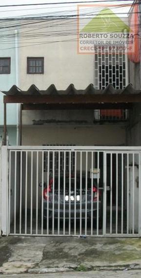 Sobrado Geminado Para Venda Em São Paulo, Jardim Robru, 3 Dormitórios, 1 Suíte, 1 Banheiro, 1 Vaga - 00521