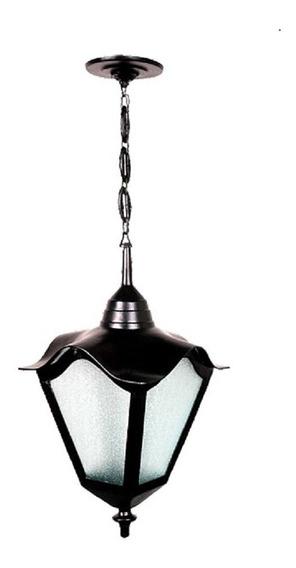 Luminária Externa E Interna Romana Com Corrente Em Alumínio