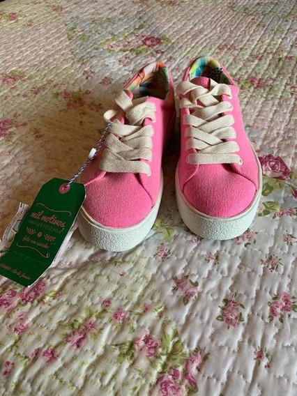 Tenis Rosa Neon Farm Tam 35
