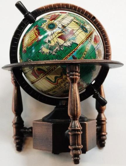Mapamundi Globo Terráqueo Coleccion Miniatura Metal Sacapunt