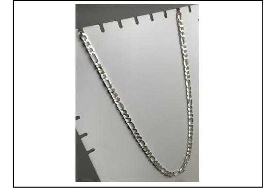 Correntinha De Prata 60cm 3x1 Unissex