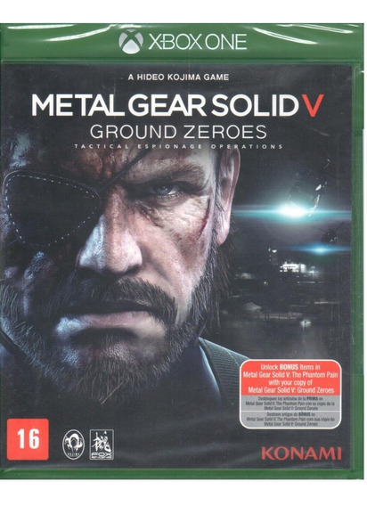 Metal Gear Solid V Ground Zero Xbox One Mídia Física Lacrado