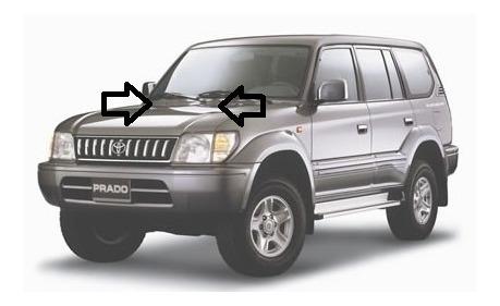 Sapitos Wiper Rociadores Toyota Meru