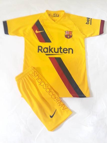 Conjuntos Futbol Juventus Cr7 Barcelona Messi 2019 Niños