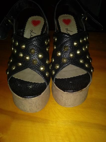 Zapatos C/taco Luna Chiara Poco Uso Super Comodos Imperdible