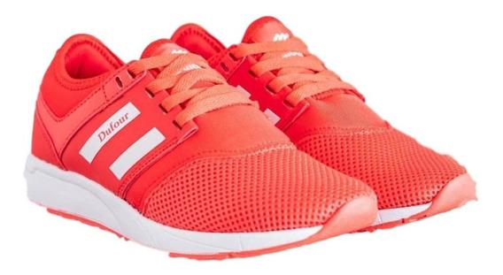 Zapatillas Running Ultra Livianas De Mujer Rojas Dufour