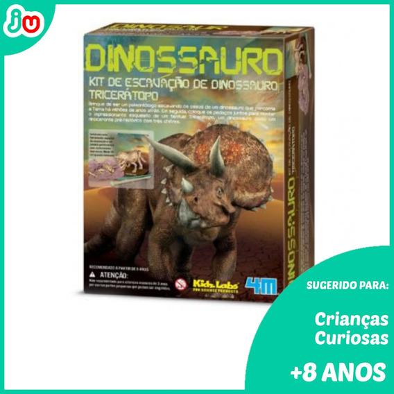 Frete Grátis Kit Escavação Kidzlabs Dinossauros Tricerátopo