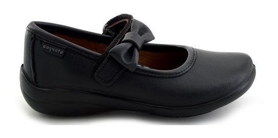 Zapato Escolar Coqueta Para Niña 170805-a Negro [cta679]