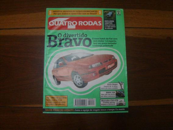 Revista 4 Quatro Rodas 462 Janeiro 1999 Bravo Bmw Golf R453