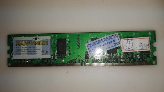 Memoria Ddr2 667mhz-cl5 Pc5300u- Markvision