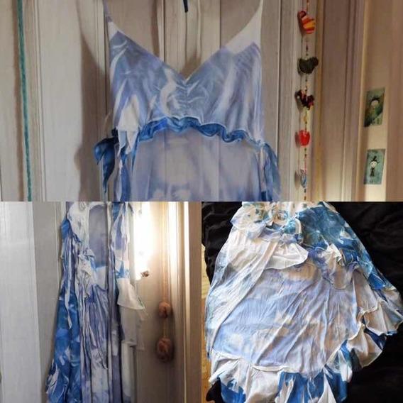 Vestido Azul Y Blanco Fiesta Talle M, Rimmel