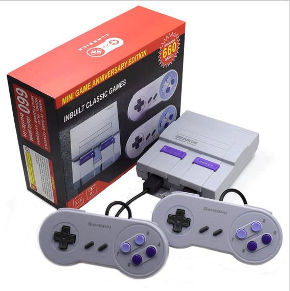 Nes Retro Video Game Console 660 Jogos Eua Plug