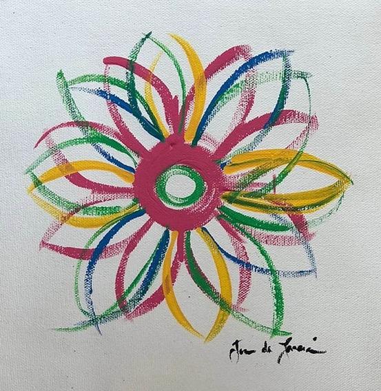 Cuadro, Arte Mexicano De Juan Lascurain ¨flower Power¨