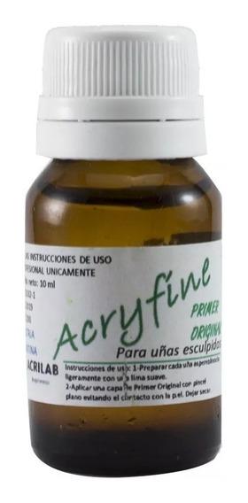 Primer Acido Uñas Esculpidas Acrilicas Acryfine Acrilab 10ml