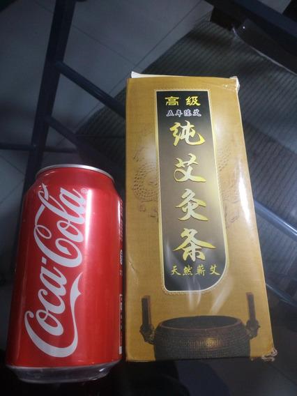 Moxa Tradicional China Para Acupuntura 10 Lapices De 20cm