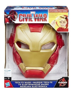 Iron Man Mascara Marvel Civil War Con Luz Y Sonido B5784