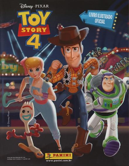 Álbum + Lote 90 Figurinhas Diferentes Toy Story 4 + 10 Cards