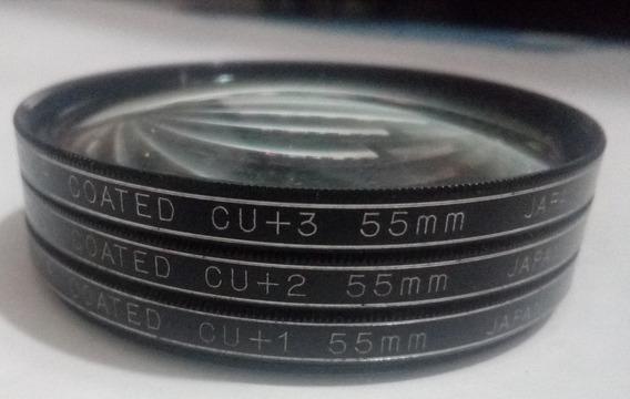 Set De Tres Filtro Panagor Coated Cu+1,+2,+3 55 Mm