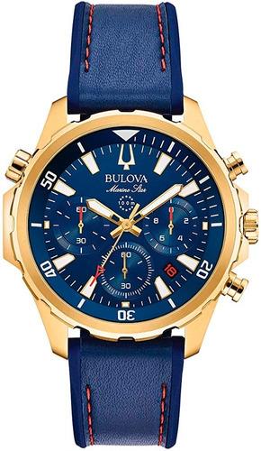 Relógio Masculino Pulseira De Couro Bulova Original 97b168