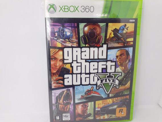 Gta V Original Novo Jogo Tiro Xbox 360 Físico Gta 5 Leg Pt B