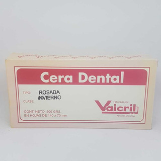Cera Rosa En Laminas Odontologia Dental X 200gr Vaicril Invi