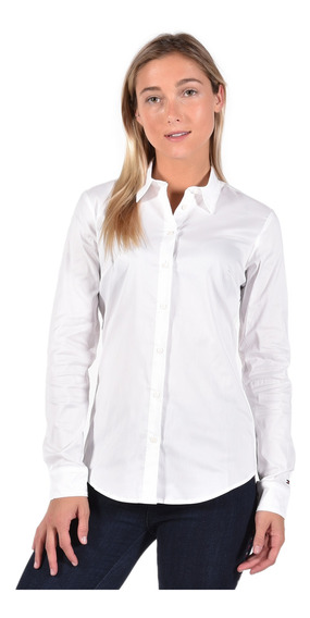 Blusa Fitted Tommy Hilfiger Blanco 1m87647510-100 Mujer