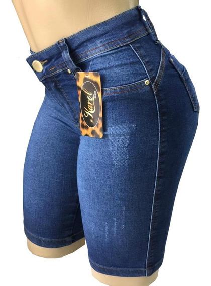 Kit 3 Shorts Bermuda Jeans Ciclista Feminino - Oferta