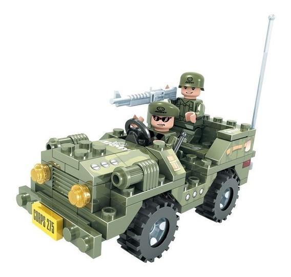 Brinquedo Para Montar - Jipe Exército - 108 Peças