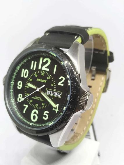 Relógio Masculino Magnum Pulseira Em Couro Ma31604g - Nfe
