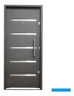 Puerta Chapa Inyectada Para Exterior N 18 3 Cerradura